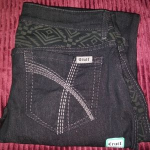 New Cruel Denim Abby Tribal Design Jeans 28 5